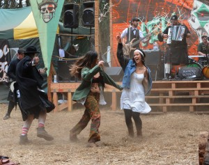 Whirling dust dancers at Blackeyed Dempseys set in McLaren Pass