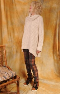 Free People pants, Betsey Johnson sneakers and sweater comes from H&M.